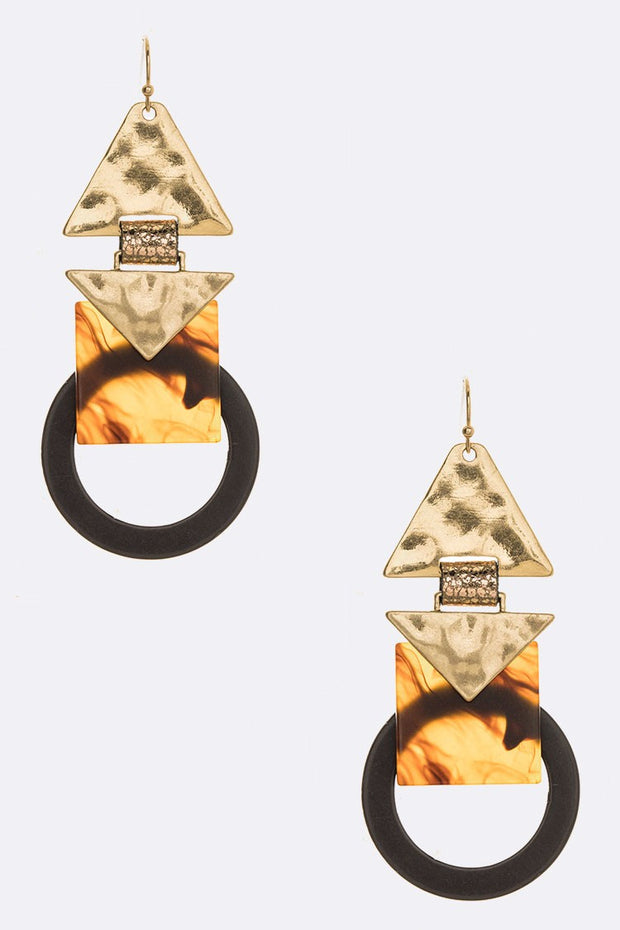 Iconic Mix Media Celluloid Earrings