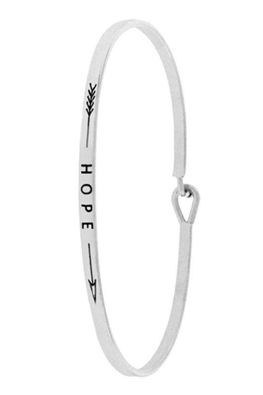 Faith With Arrow Inspiration Bangle Bracelet