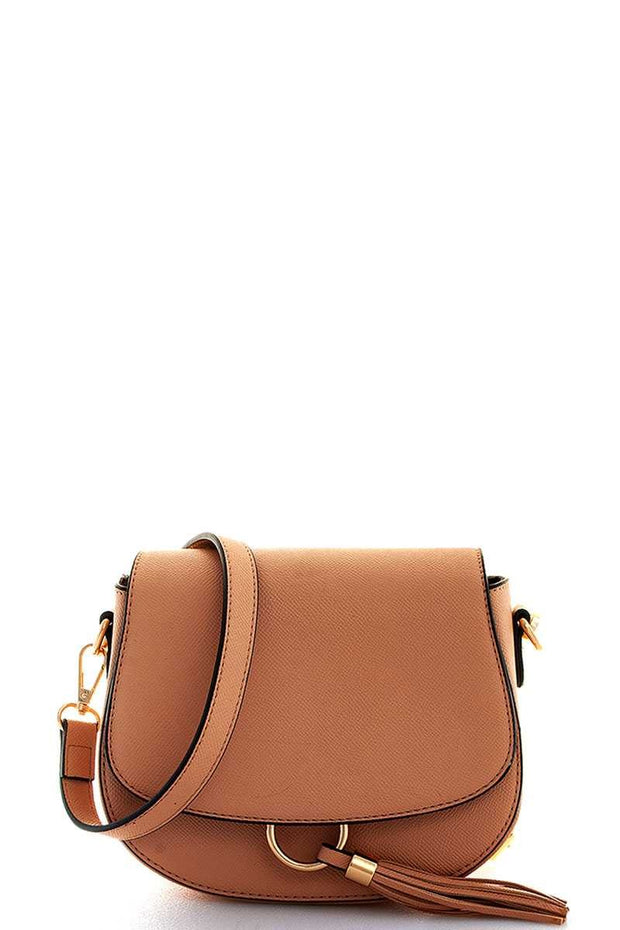 Ring & Tassel Crossbody / Shoulder Bag