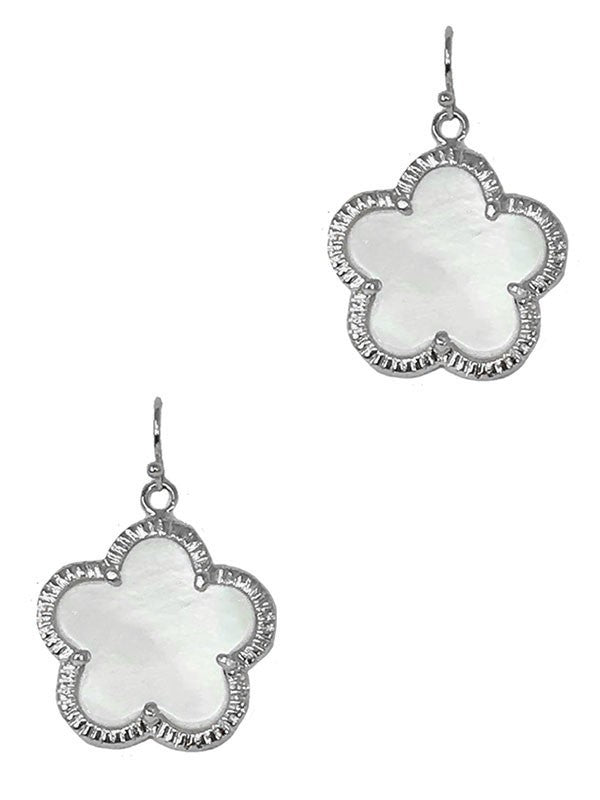 Mother Of Pearl Clover Earring