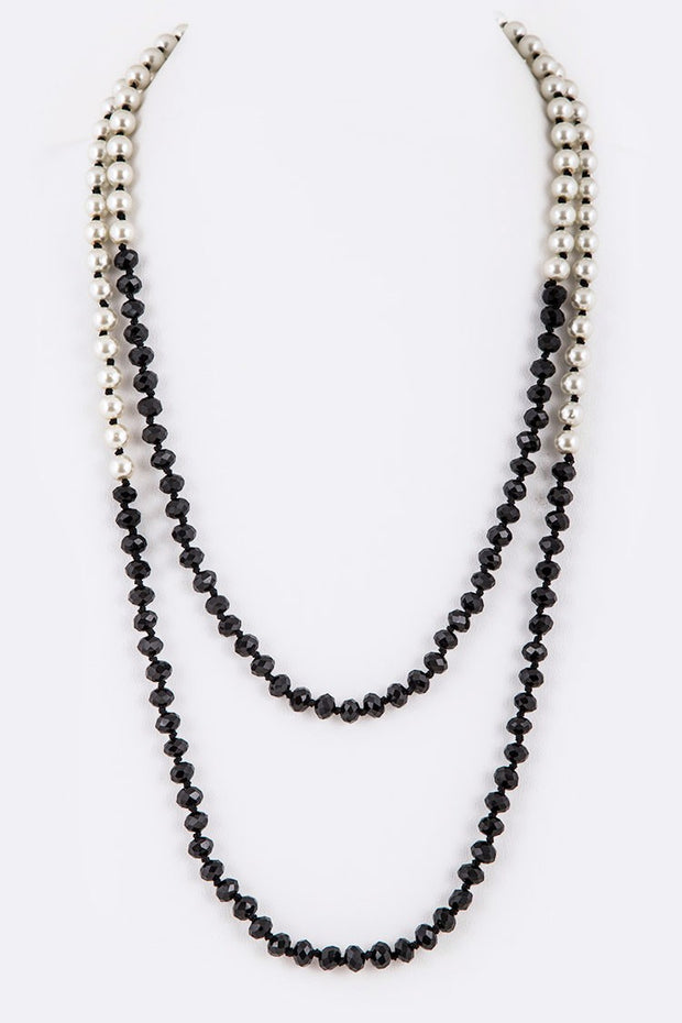 Crystal Pearl Convertible Necklace