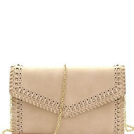 Laser Cut Linked String Envelope Clutch