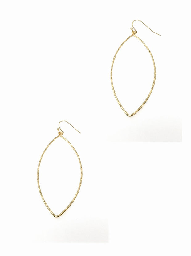 Marquise Pointed Oval Earring