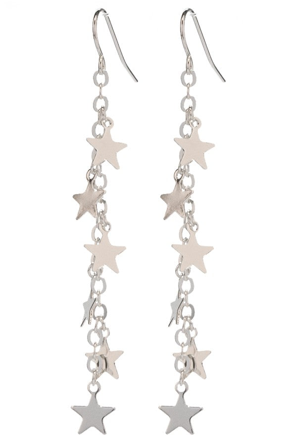 Star Charm Dangle Drop Earring
