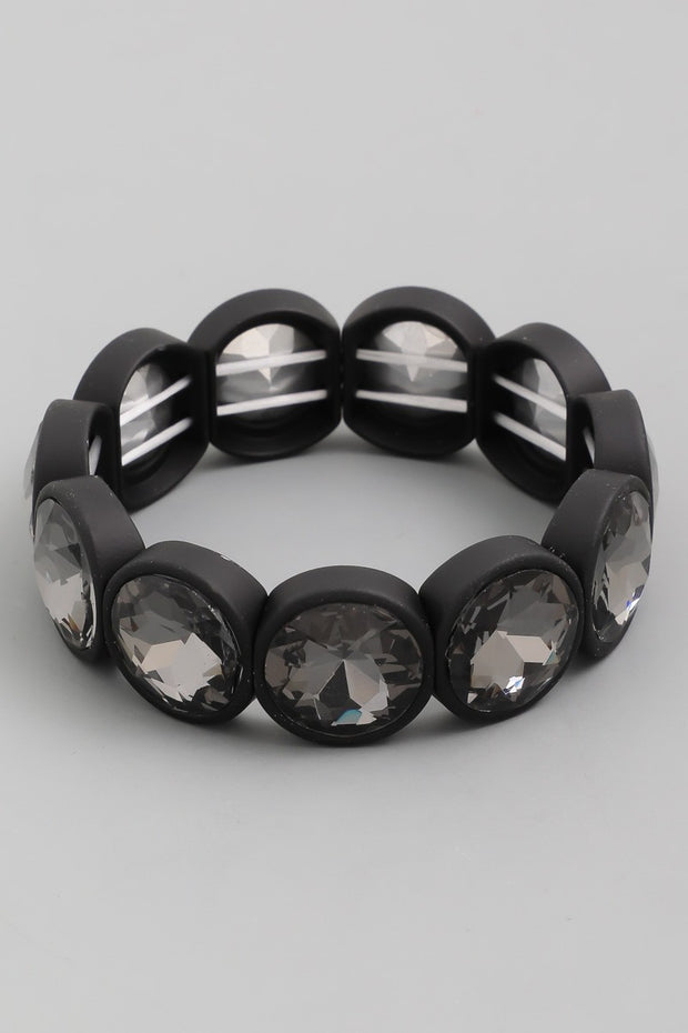Faceted Crystal Circle Block Bracelet