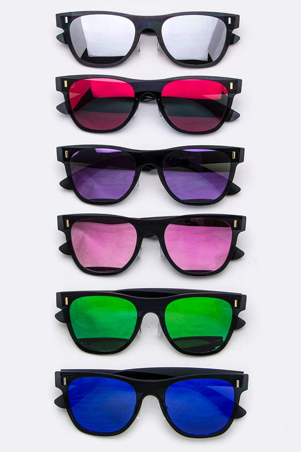 Wayfarer Sunglasses With Colored Lens