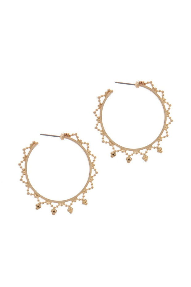 Side Detail Hoop Earring