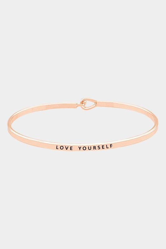Love Yourself Inspiration Bangle Bracelet