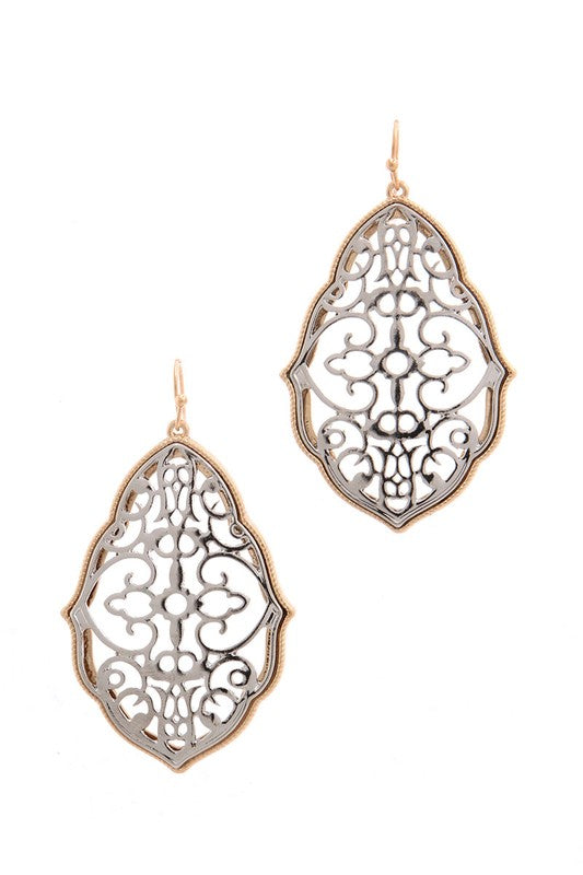 Filigree Drop Earring