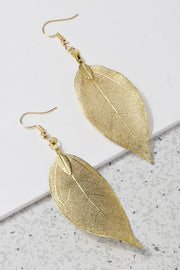 Lightweight Leaf Drop Earrings