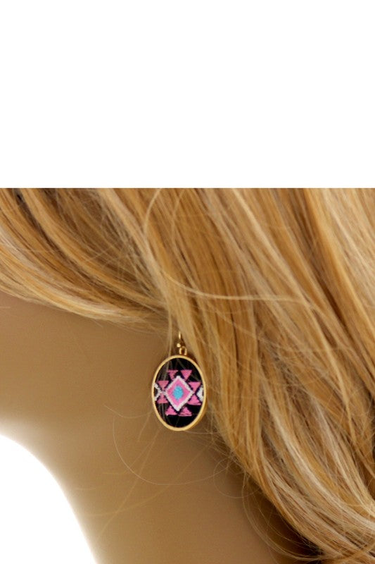 Navajo Aztec Tribal Embroidery Earring