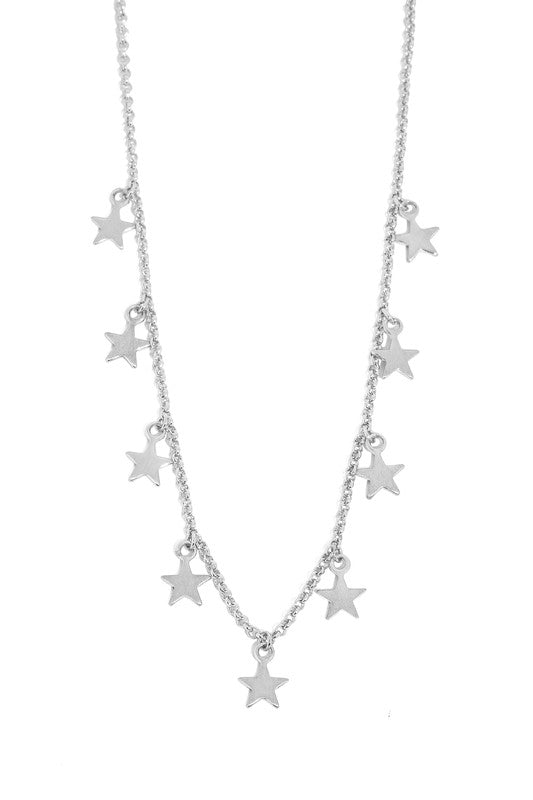 Dangling Star Charm Necklace