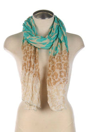 Ombre Leopard Scarf