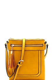 Exotic Detail Tassel Accent Cross Body