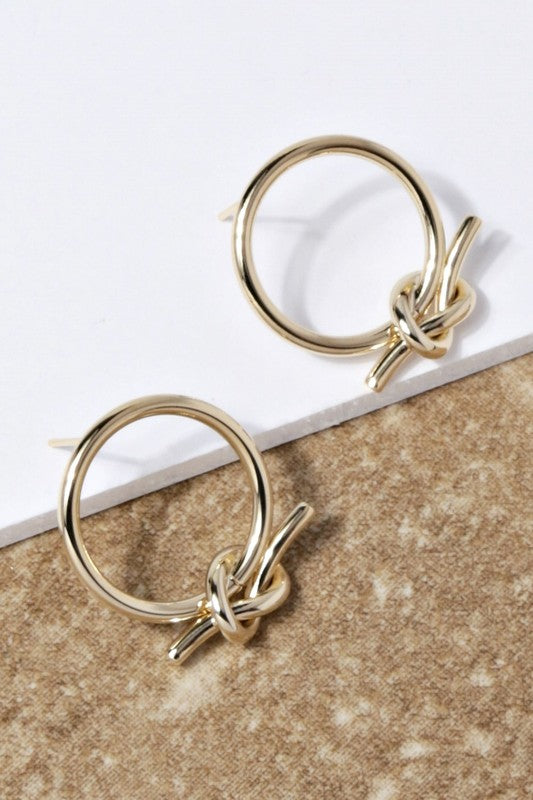 Geometric Knot Earrings