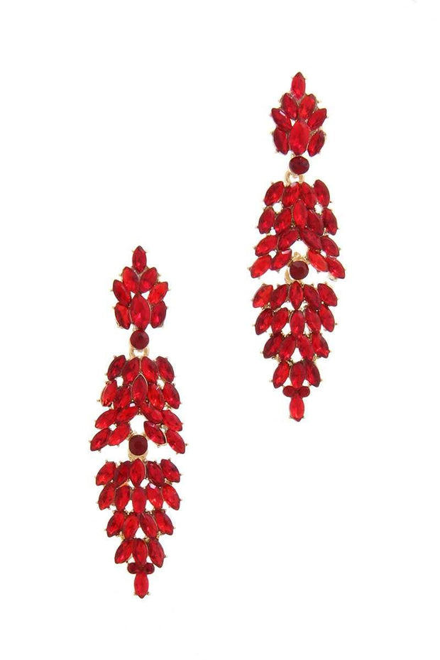 Red 3 Tier Statement Earring