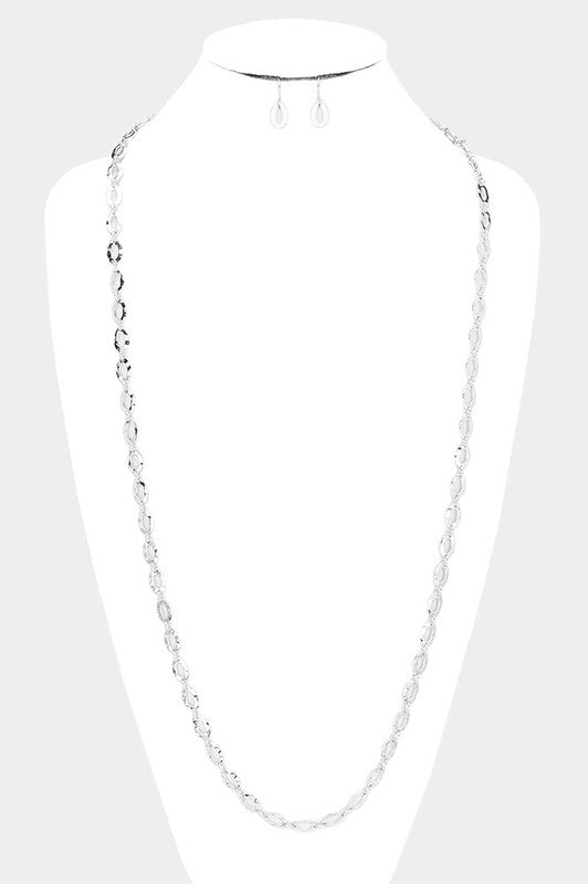Chain Link Long Necklace