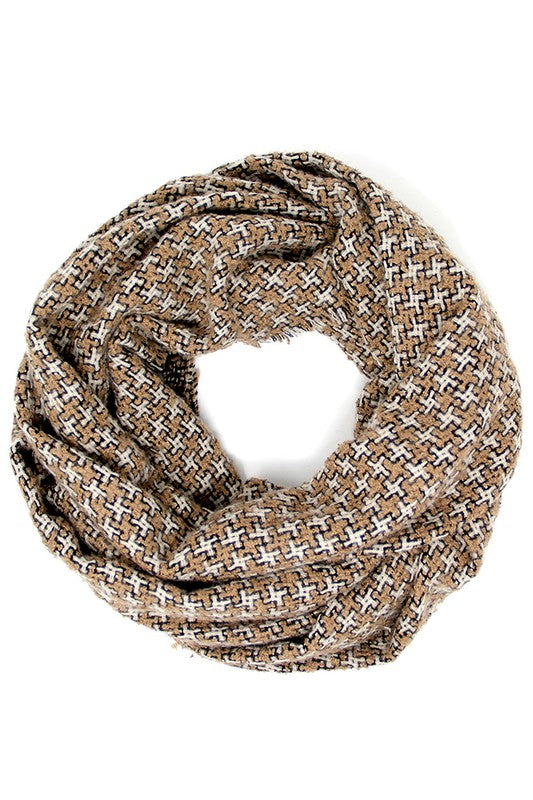 Houndstooth Pattern Infinity Scarf