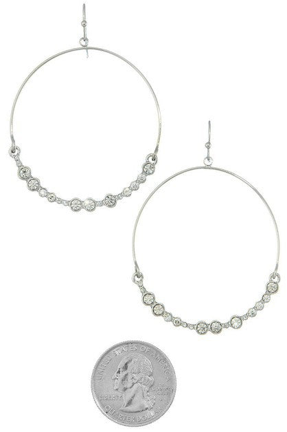 Stone Bottom Oval Earring