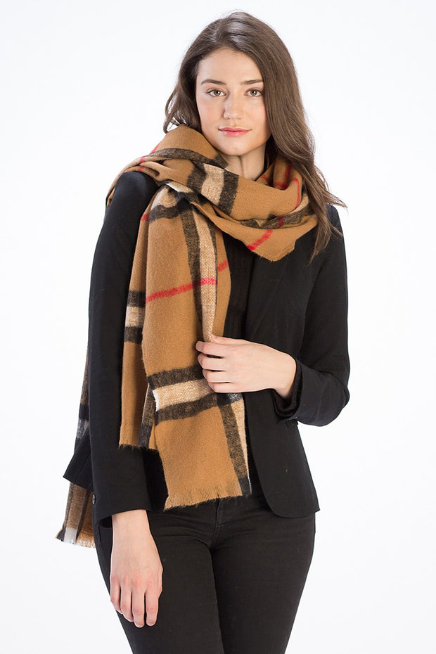 Checkered Plaid Soft Scarf