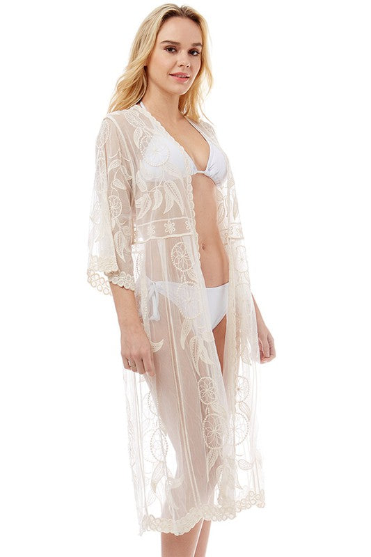 Floral Sheer Kimono / Cover Up