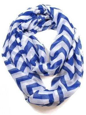 Skinny Striped & Chevron Printed Infinity Scarf