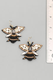 Beaded Bee Statement Earring
