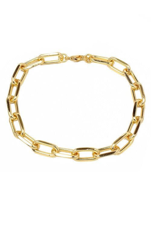 Aria 18k Gold Plated Linked Chain Bracelet
