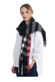 Soft Texture Plaid Pattern Scarf