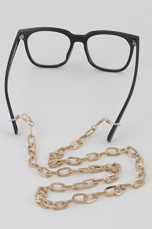 Matte Metal Chain Link Mask / Sunglasses Chain
