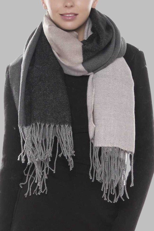 Color Block Ultra Soft Scarf