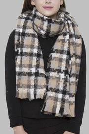 Check Pattern Oblong Scarf