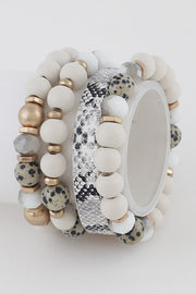 Gwen Mixed Media Bracelet Set (Set of 4)