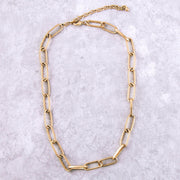 Worn Gold Chain Link Necklace