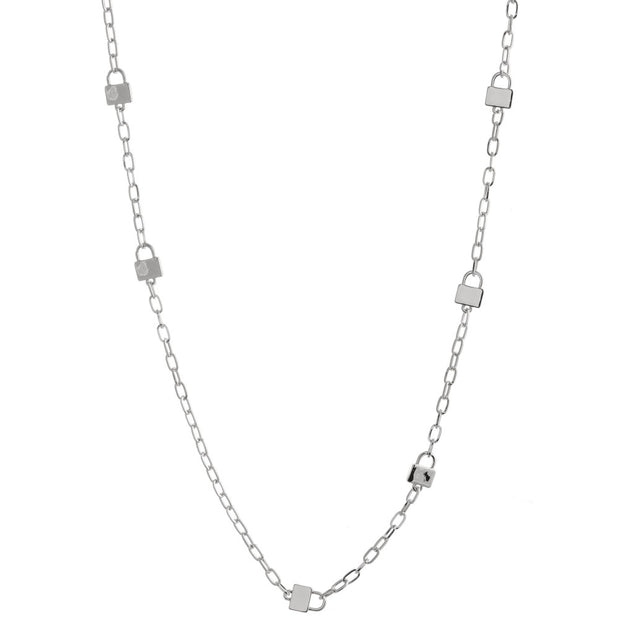 Long Lock Chain Link Necklace