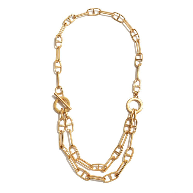 Reese Toggle Bar Layered Necklace