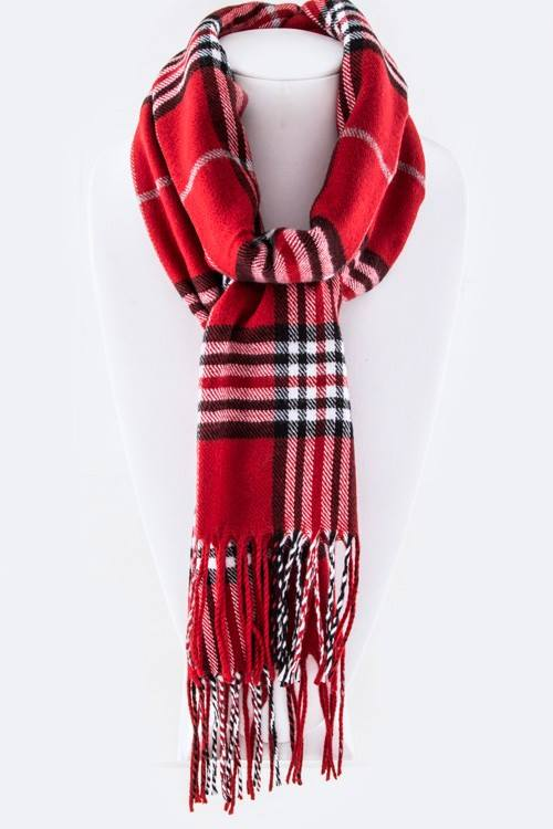 Plaid Britt Soft Scarf