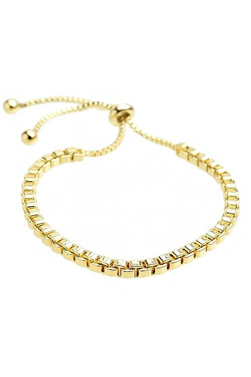 Square Chain Pull Tie Bracelet