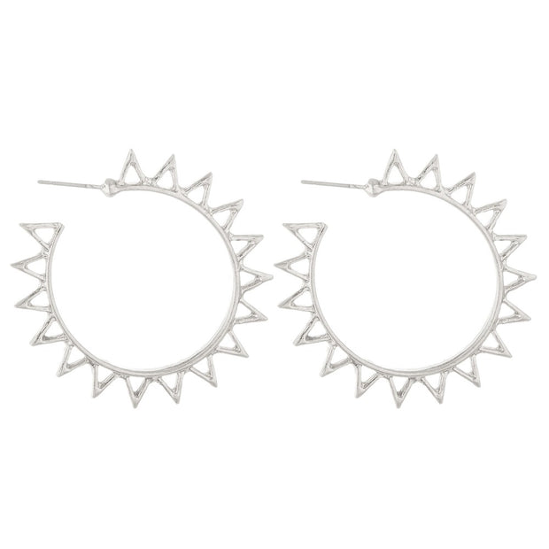 Bohemian Sun Hoop Earrings