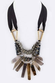 Mix Semi Precious Stones Statement Necklace