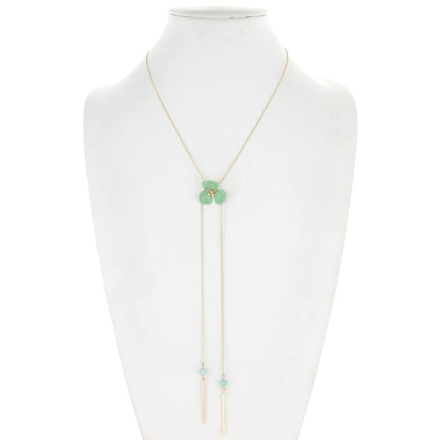 Flower Adjustable Lariat Necklace