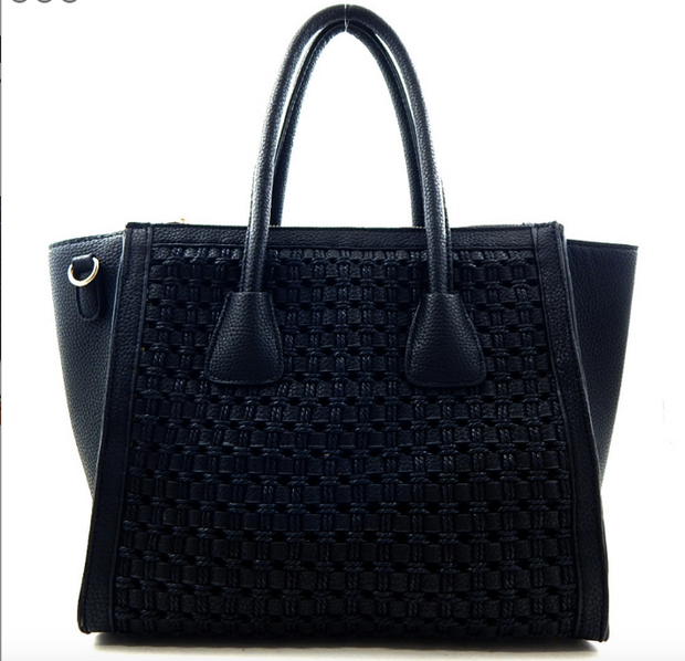 Woven Compartment 2 Way Tote