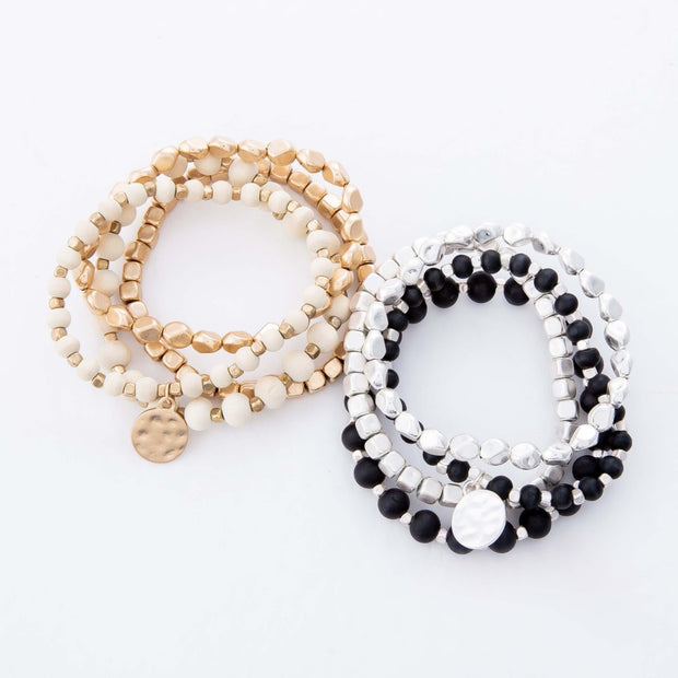 Rachel Wood Bracelet Set (Set of 4)