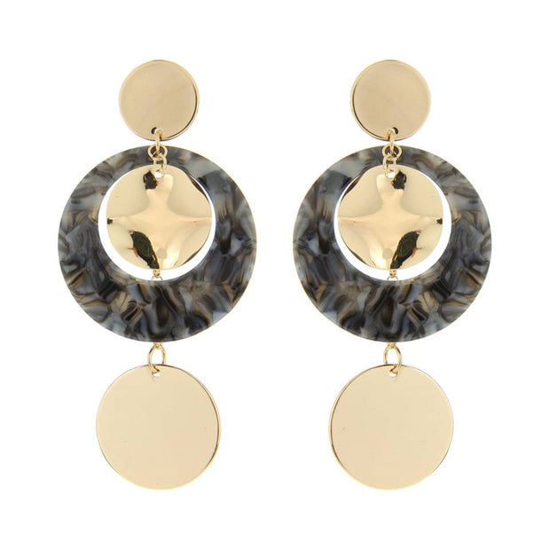 3 CIRCLE DROP POST EARRINGS
