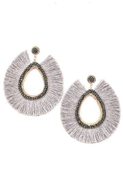 Raindrop Tassel Fan Earrings