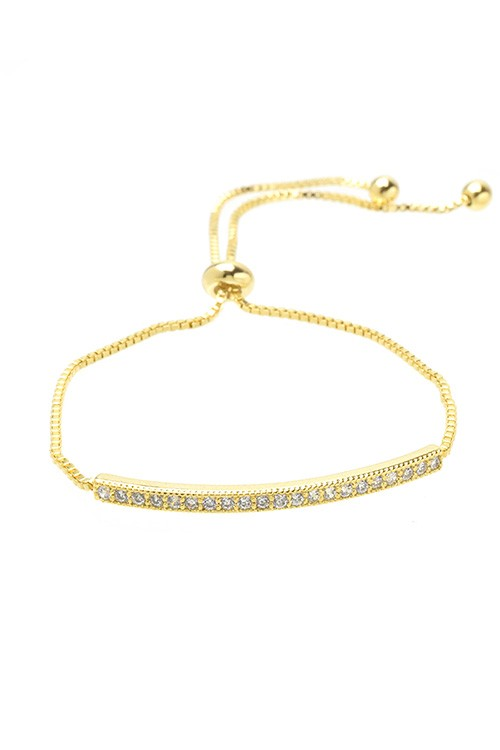 Single Row Bar Cubic Zirconia Bracelet
