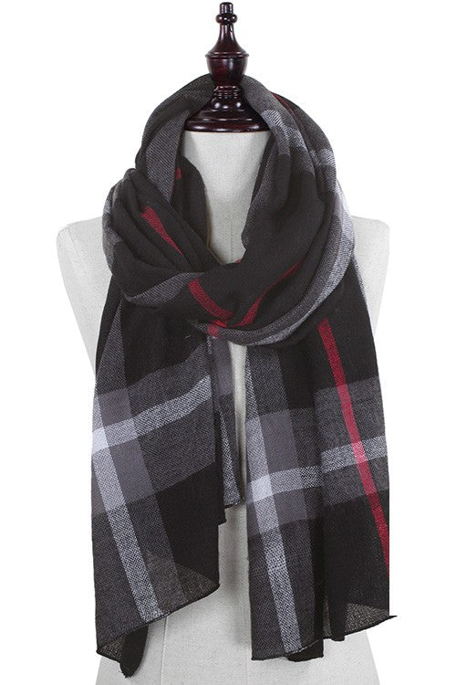 Plaid Britt Lightweight Scarf