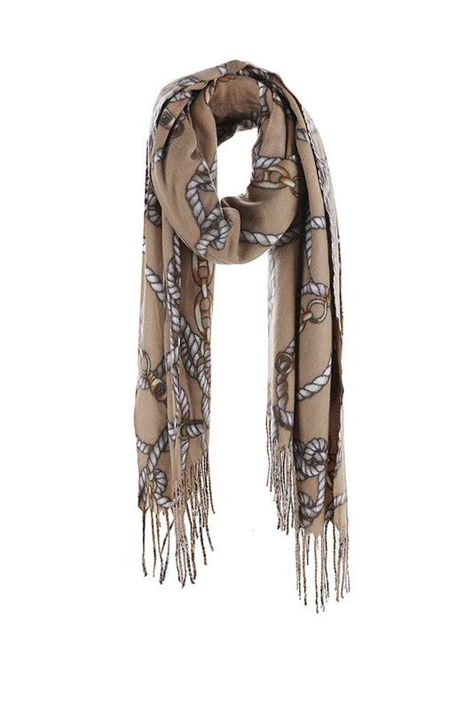 Chain & Rope Print Luxury Scarf