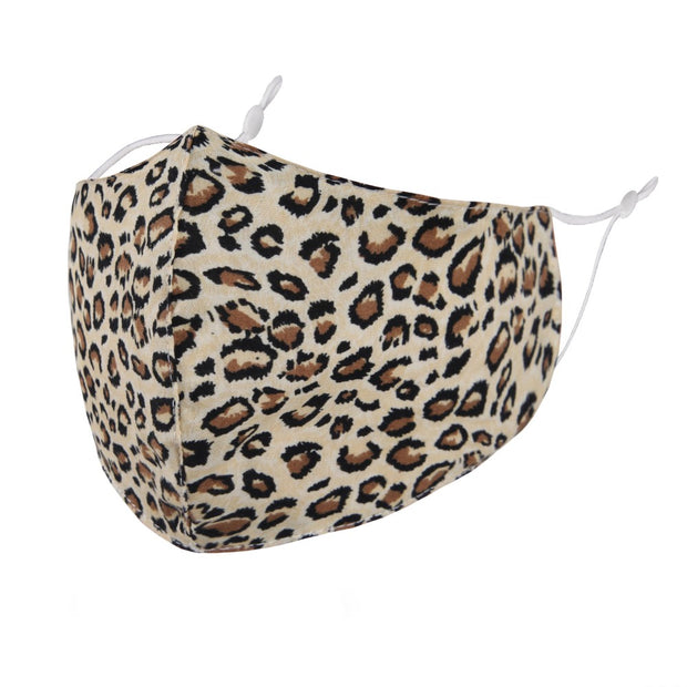 Tan Leopard Print Fashion Mask