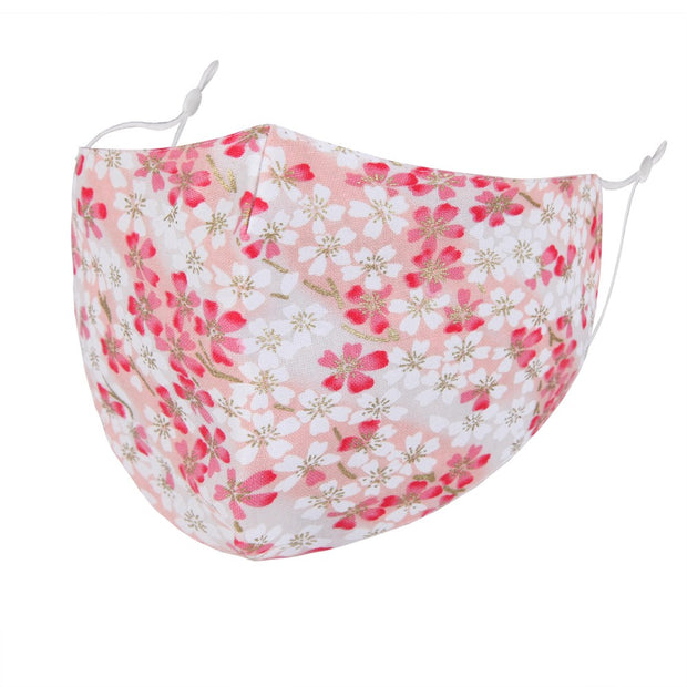 Cherry Blossom Print Face Mask